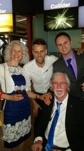 Richard Bacon with ReAgent's Barbara, Steve and Rich