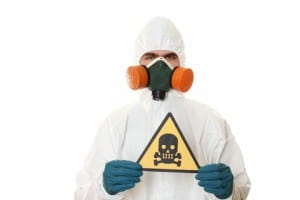 Handling toxic chemicals should always be done by a trained professional wearing PPE