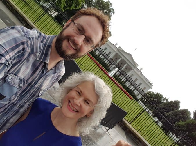 Rich and Barb Outside the White House