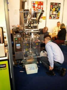 Darren and Simon checking out the latest Sachet Filling technology