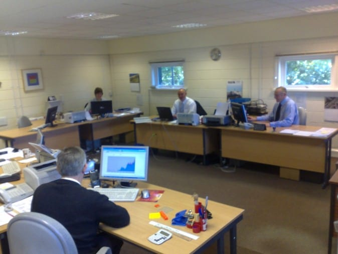 We created a large, open-plan office in 2007
