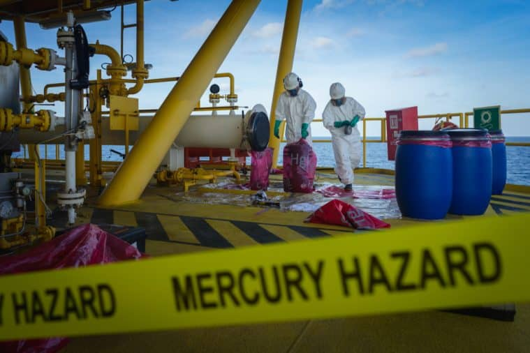 A career in chemistry may involve work in hazardous waste management