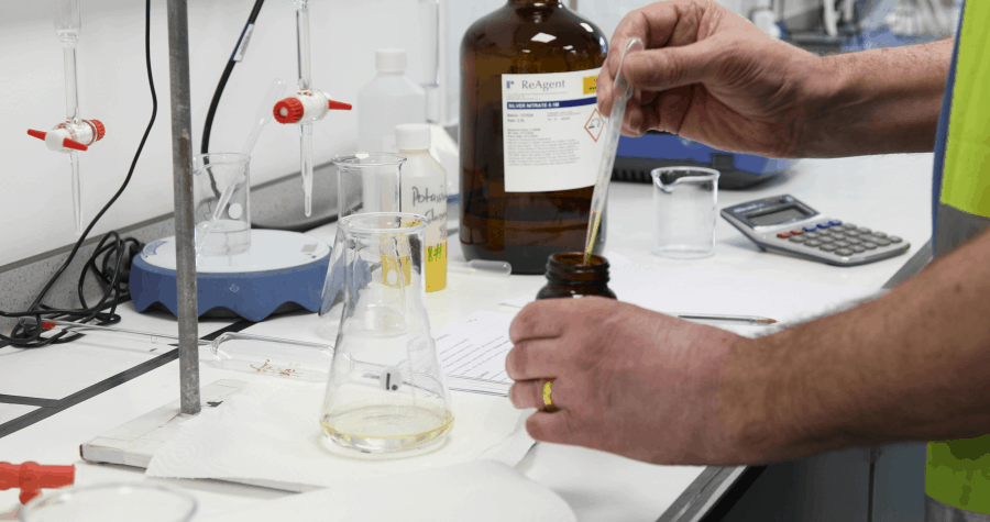 Quality checking simulated gastric fluid