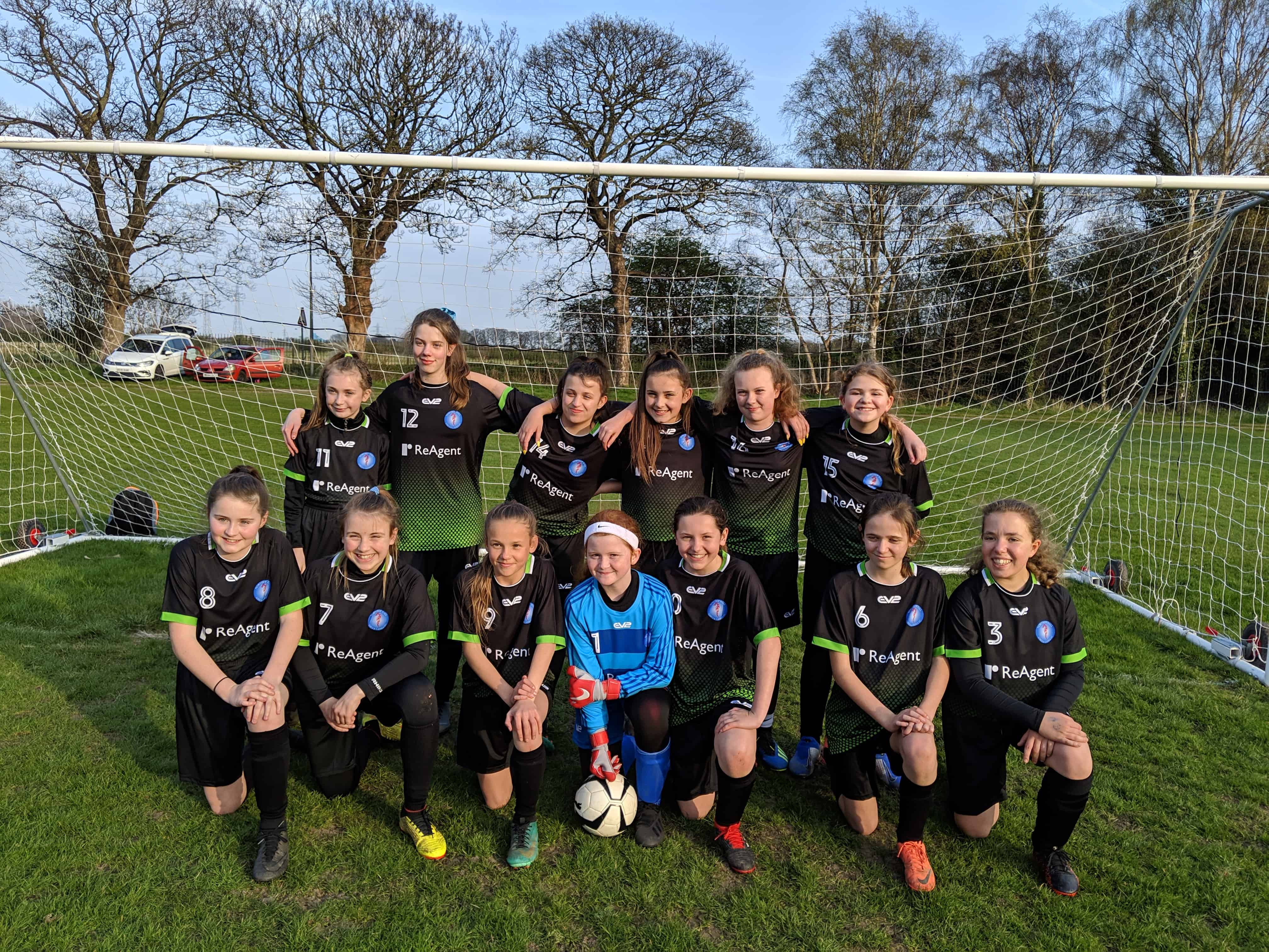 ReAgent Sponsors Northop Hall Girls' Football Club – team